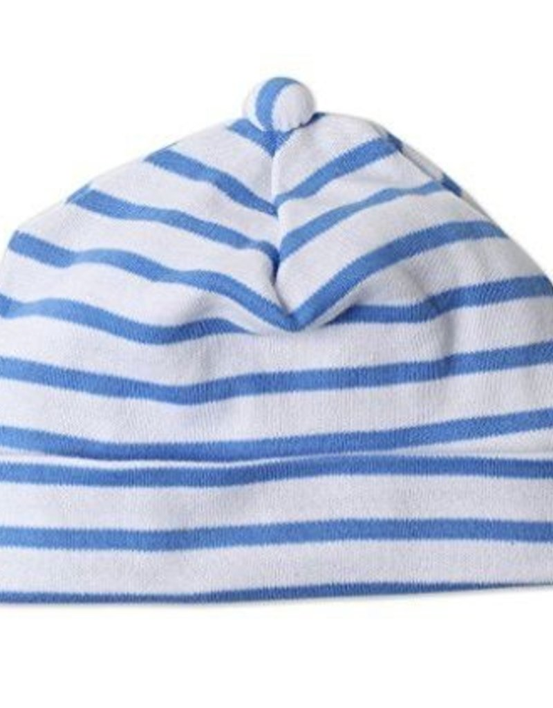 Zutano Breton Stripe Beanie Periwinkle