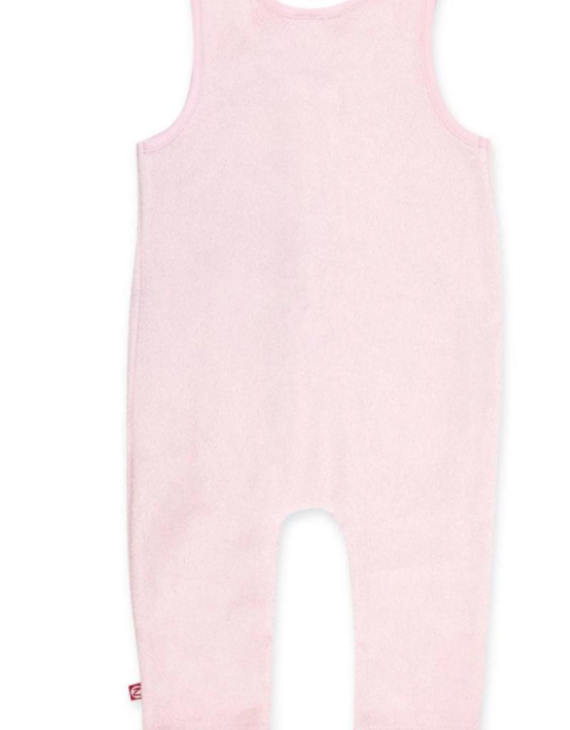 Zutano Cozie Fleece Overall Pink