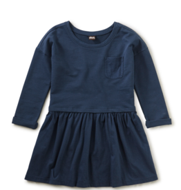 Tea Collection Pocket Play Dress Whale Blue 2T-8