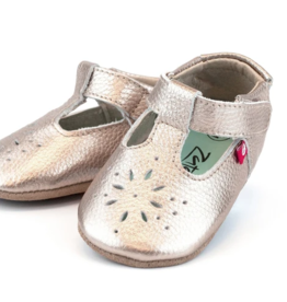 Zutano Rose Gold Leather Mary Jane 18M, 24M