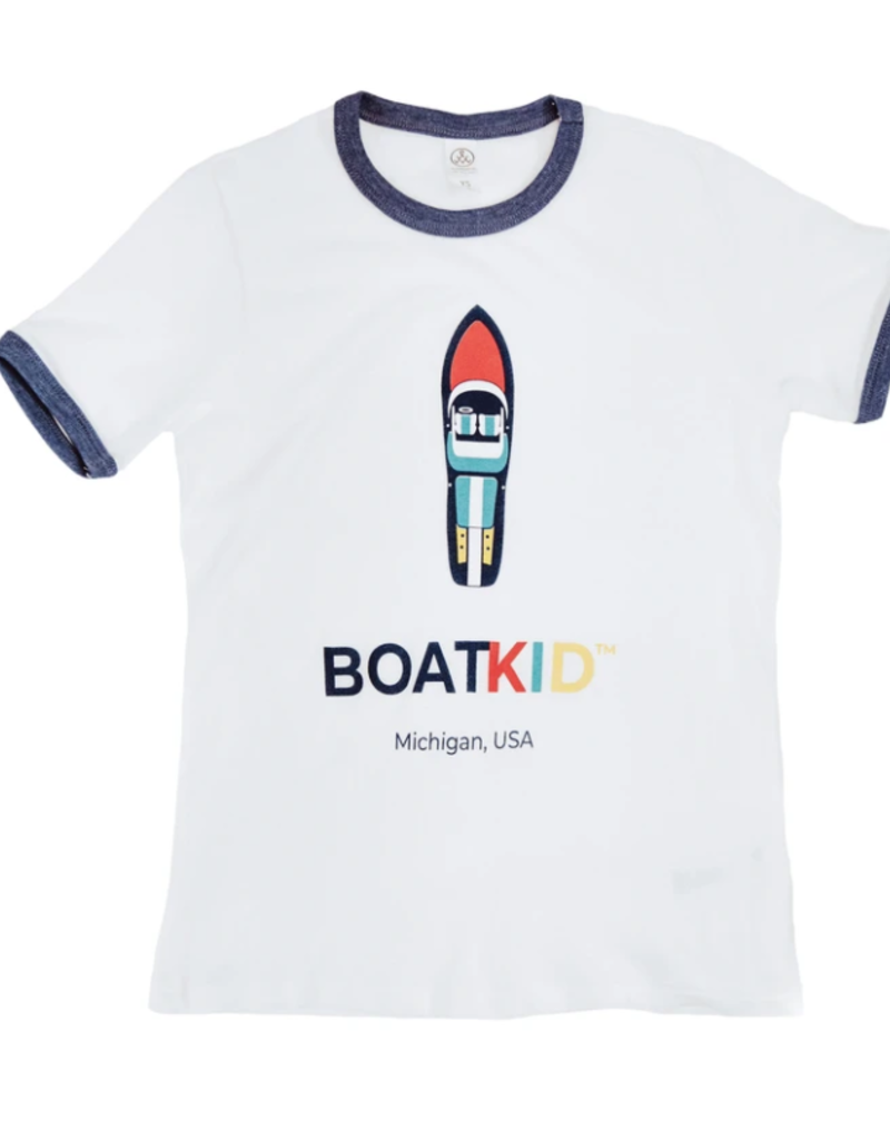 Boatman Boatkid Ringer Tee