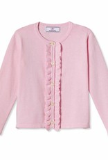 Classic Prep Ruffle Front Cardigan Pink 2T-12