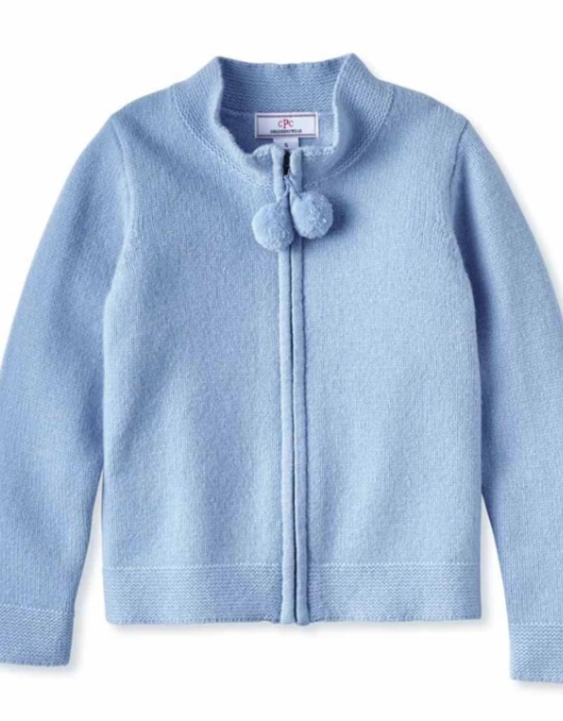Classic Prep Pippa Pom Pom Sweater Bluebell