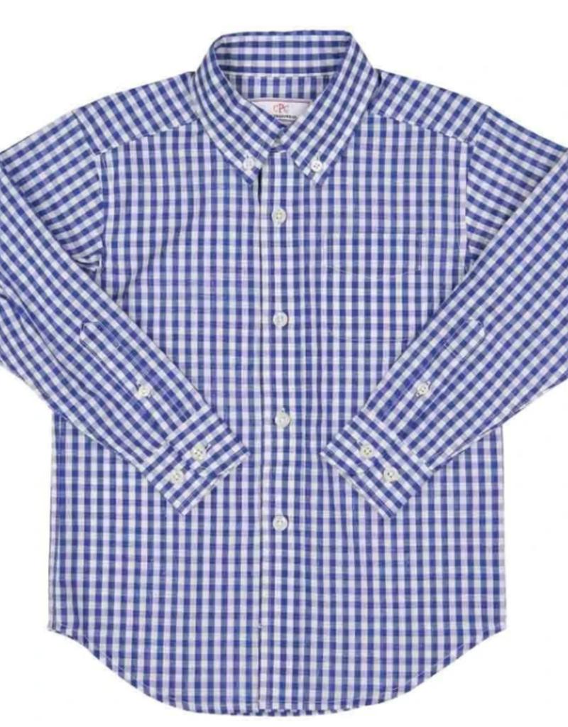 Classic Prep Owen L/S Button Down Shirt Blue Gingham