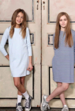Classic Prep Jillian L/S Dress Bluebell/White Stripe