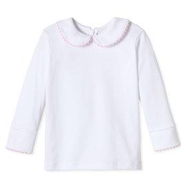 Classic Prep Isabelle Peter Pan Shirt w/Pink RicRac
