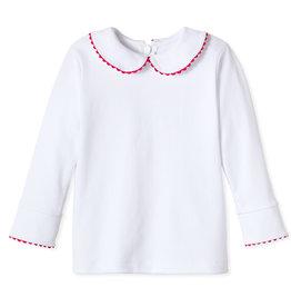 Classic Prep Isabelle Peter Pan Shirt w/Crimson RicRac 12/18M-7