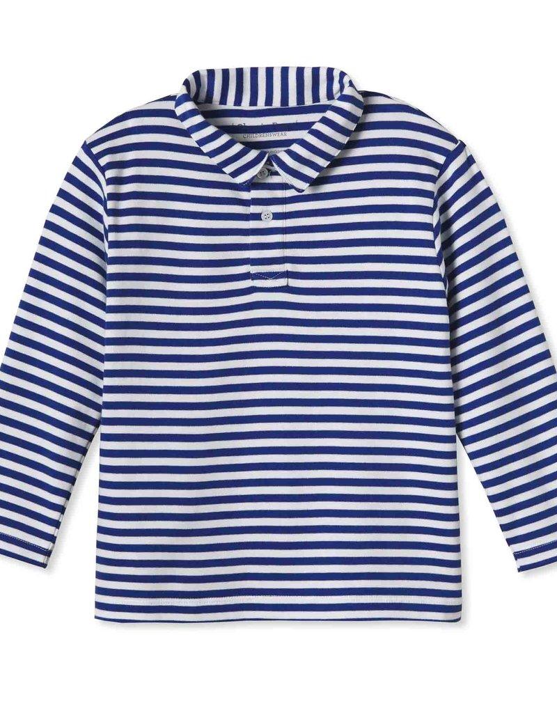 Classic Prep Henry L/S Polo Bright Navy/White Stripe