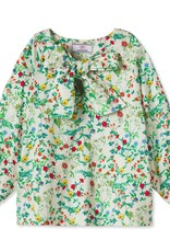Classic Prep Becca Neck Tie Shirt Fall Floral
