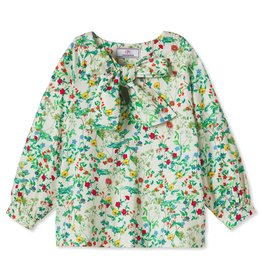 Classic Prep Becca Neck Tie Shirt Fall Floral 2T-12