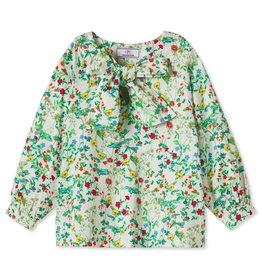 Classic Prep Becca Neck Tie Shirt Fall Floral 8, 12