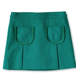 Classic Prep Cara Pleated Skirt Cadium Green 5-12