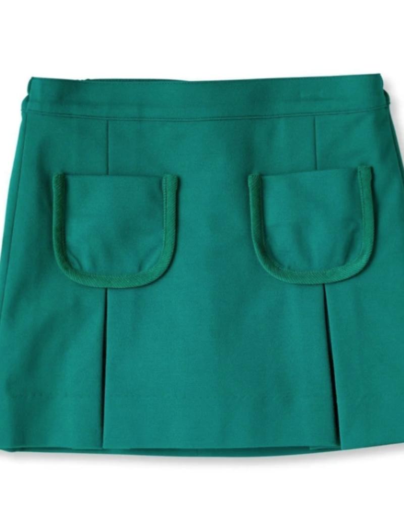 Classic Prep Cara Ponte Skirt Cadium Green
