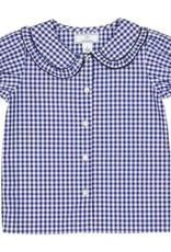 Classic Prep Chloe Button Front Shirt Blue Gingham 3T-10