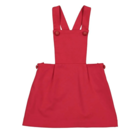 Classic Prep Katie Pinafore Dress Red