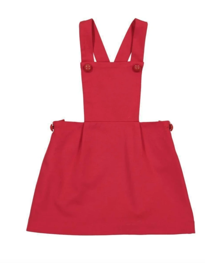 Classic Prep Katie Pinafore Dress Lipstick Red 12/18M-5