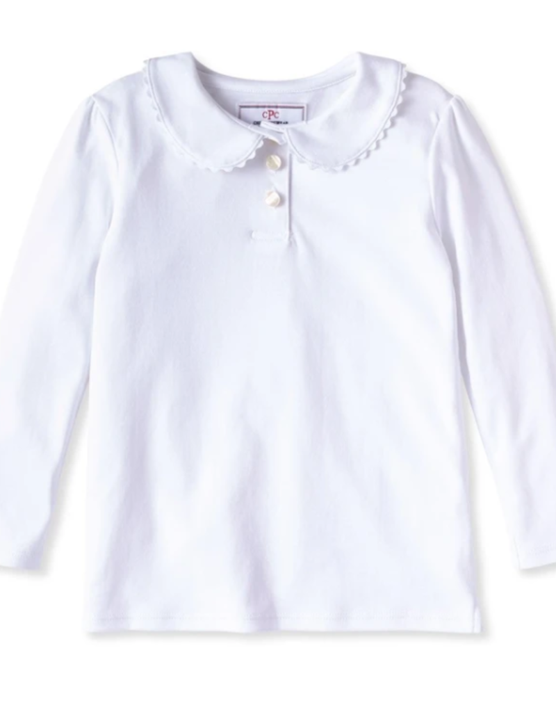 Classic Prep Sarah L/S Polo White