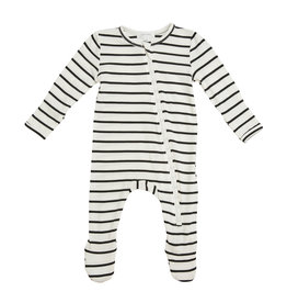Angel Dear Black Stripes Footie NB-18/24M