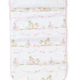 Kissy Kissy Noah's Print Burp Cloth Pink