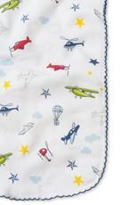 Kissy Kissy Aviators Print Burp Cloth