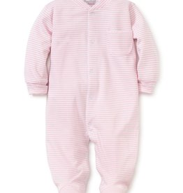Kissy Kissy Stripes Footie Pink Preemie-6/9M