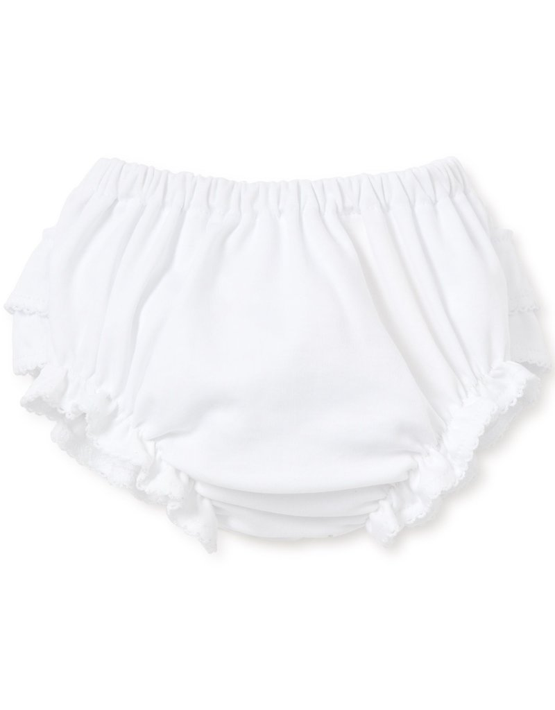 Kissy Kissy White Diaper Cover w/Ruffles