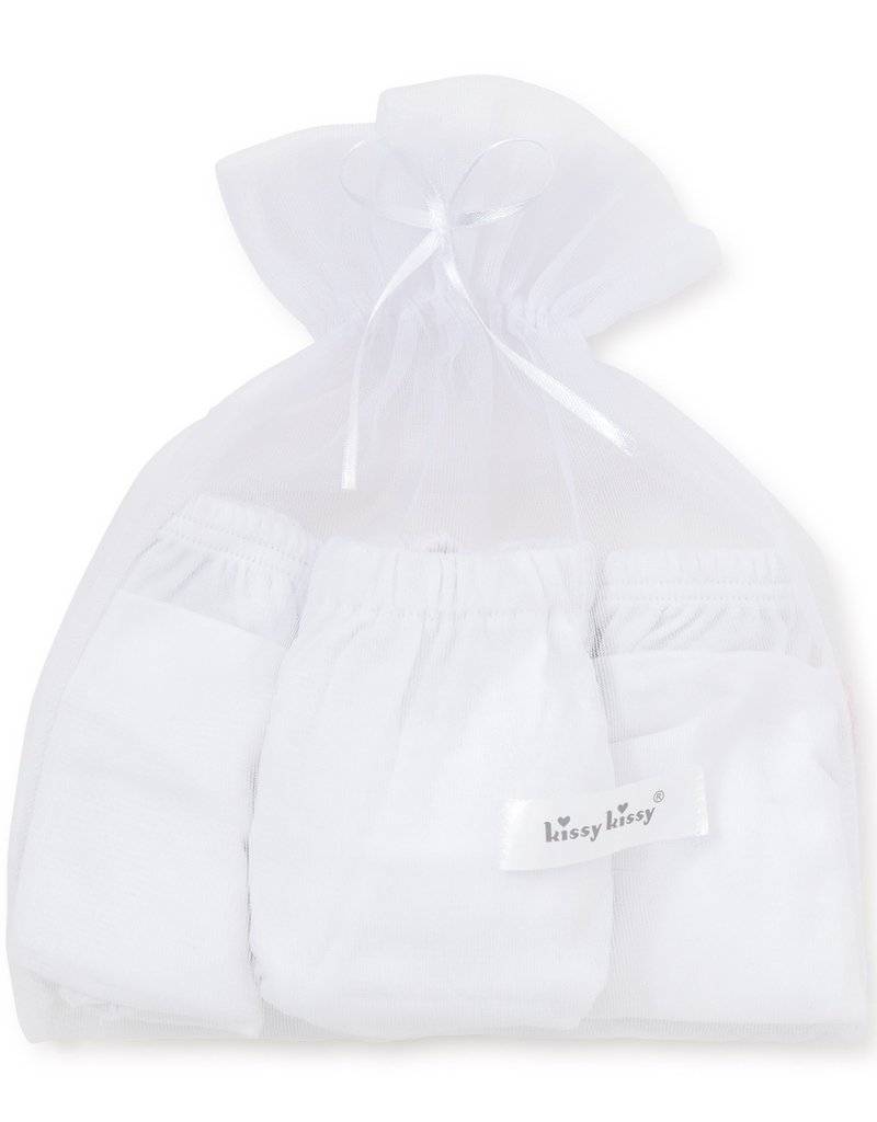 Kissy Kissy White Diaper Cover Set of 3