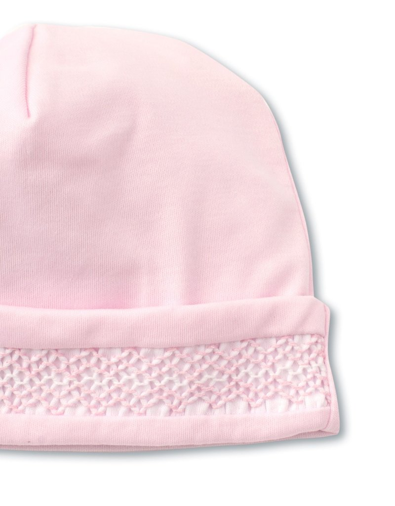 Kissy Kissy Hat w/Hand Smocking Pink