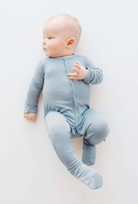 Kyte Baby Zippered Footie in Slate