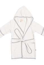 Kyte Baby Bath Robe Cloud w/Storm Trim
