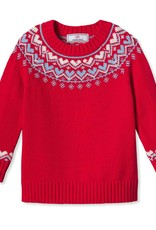 Classic Prep Katrina Heart Fair Isle Sweater