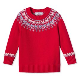 Classic Prep Katrina Heart Fair Isle Sweater 2T-12