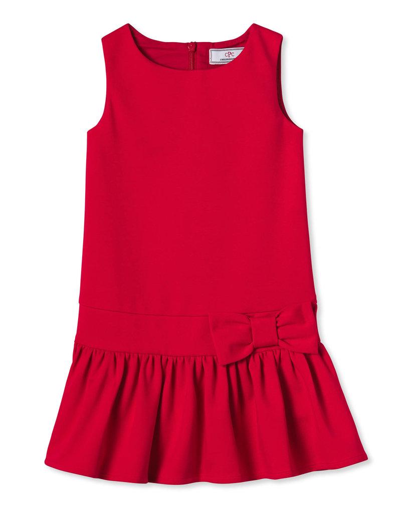 Classic Prep Cameron Drop Waist Dress Red