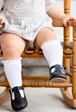Little Stocking Co. Lace Top Knee Highs White