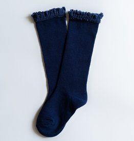 Little Stocking Co. Lace Top Knee Highs Navy