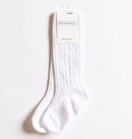 Little Stocking Co. Knee High Socks White 4/6yr, 7/10yr