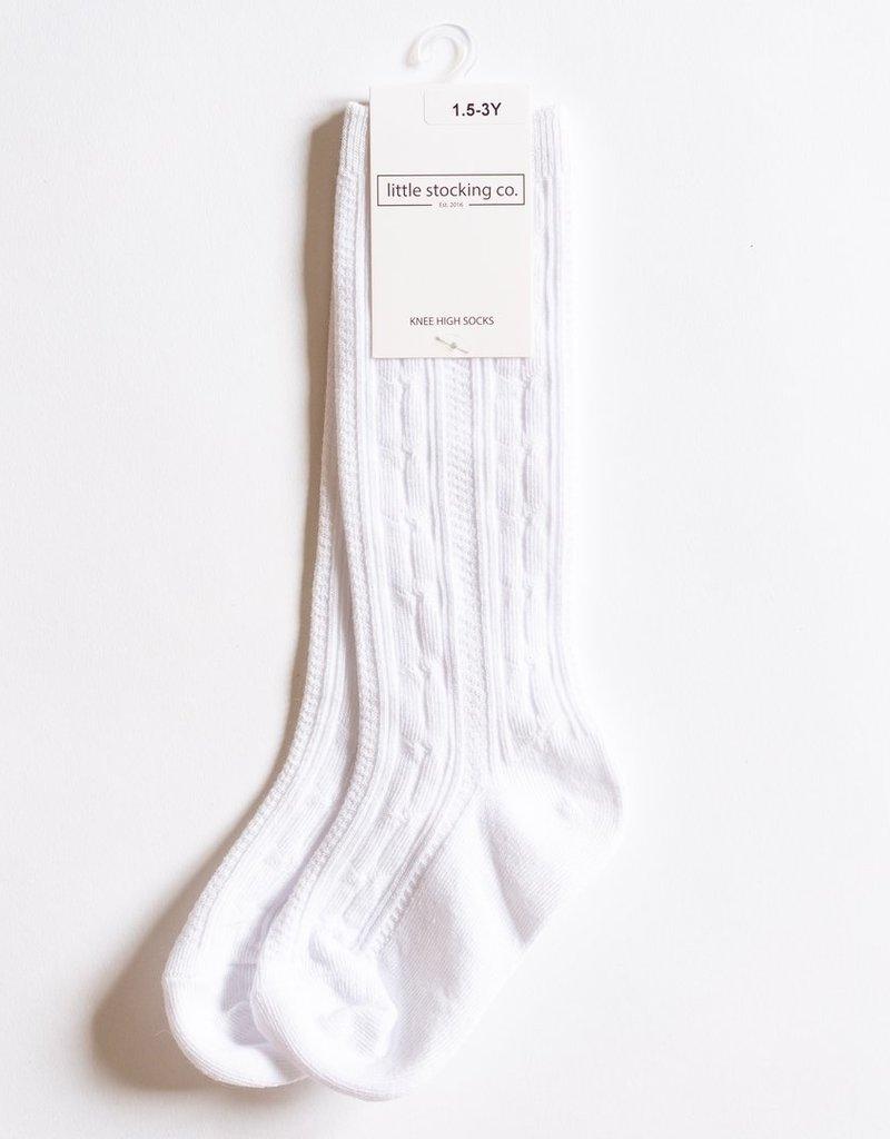 Little Stocking Co. Knee High Socks White 0/6M-7/10yr