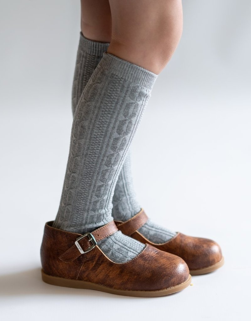 Little Stocking Co. Knee High Socks Gray 0/6M-7/10yr