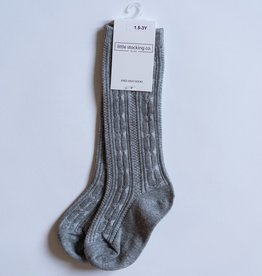 Little Stocking Co. Knee High Socks Gray 0/6M-7/10yr