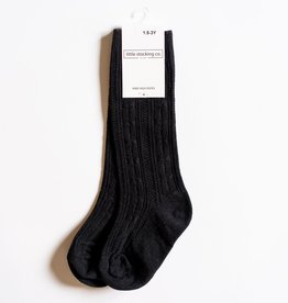Little Stocking Co. Knee High Socks Black 0/6M-7/10yr