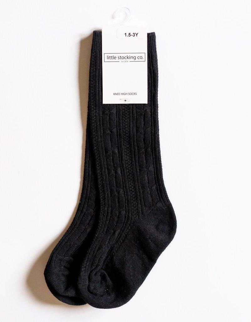 Little Stocking Co. Knee High Socks Black 0/6M-7/10yr