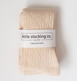 Little Stocking Co. Cable Knit Tights Vanilla Cream 0/6M-7/8yr