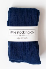 Little Stocking Co. Cable Knit Tights Navy
