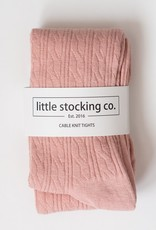 Little Stocking Co. Cable Knit Tights Blush Pink