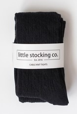 Little Stocking Co. Cable Knit Tights Black 0/6M-7/8yr