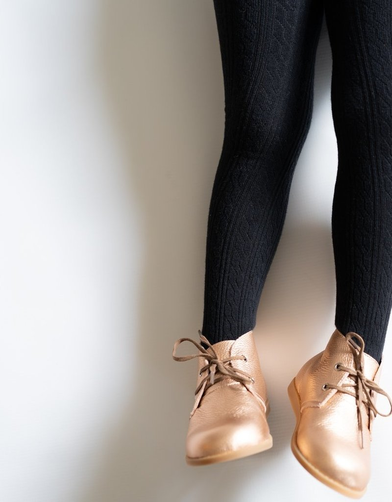 Little Stocking Co. Cable Knit Tights Black