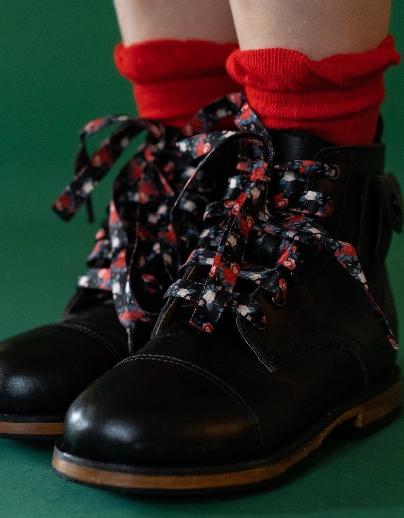 Little Stocking Co. Anklet Socks Bright Red 6/18M-4/6yr
