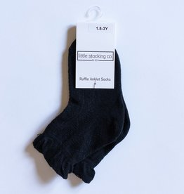 Little Stocking Co. Anklet Socks Black 6/18M-7/10yr
