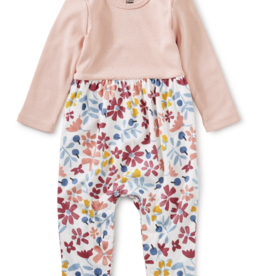 Tea Collection Two-Tone Romper Andean 0/3M-18/24M