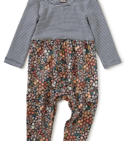 Tea Collection Two Tone Romper Mountainside Wildflowers 3/6M-18/24M